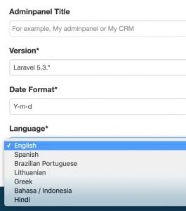 quickadmin languages