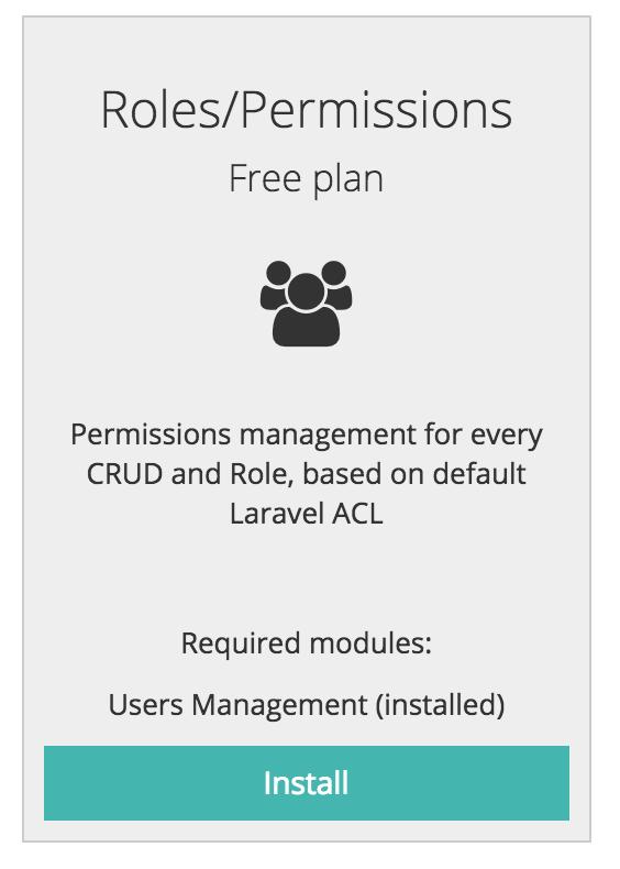 quickadminpanel roles permissions module