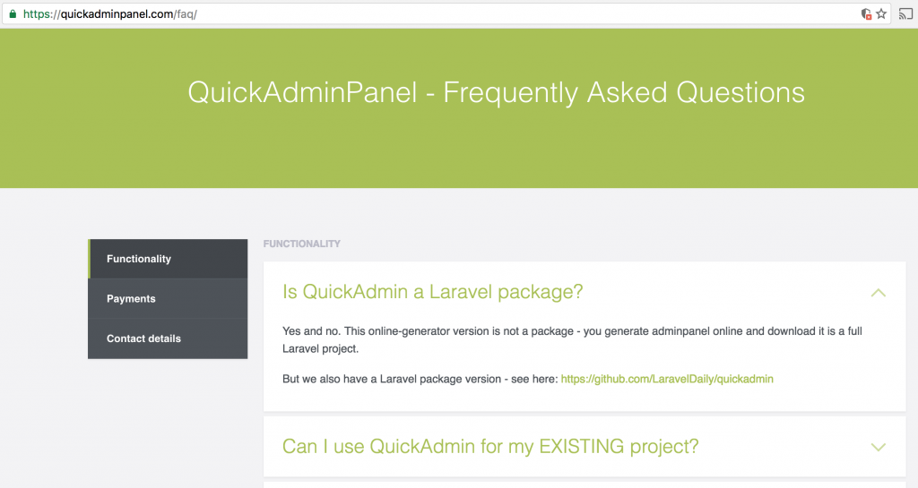 quickadminpanel faq