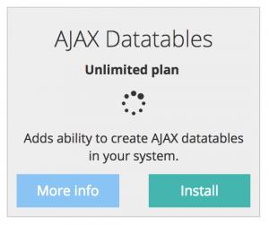 quick admin panel ajax datatables