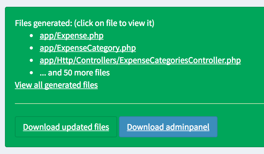 quick admin download files