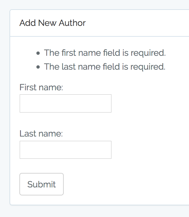 Lesson 5  Create, Update Entries and Validation – Quick