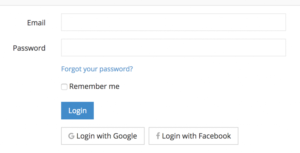 social login facebook google