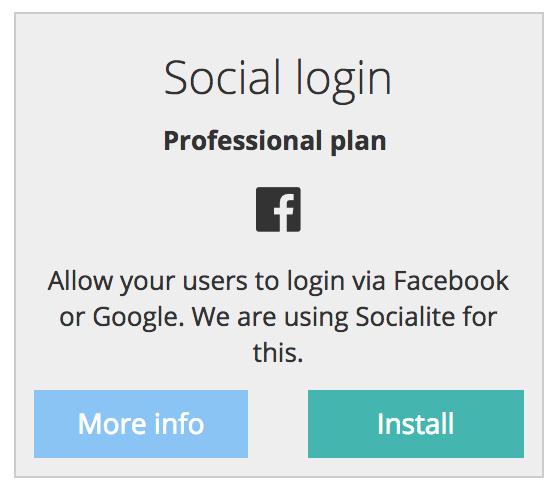 admin panel module social login