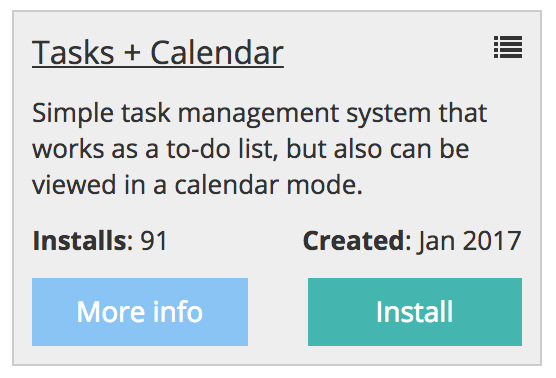 quick admin panel tasks calendar module