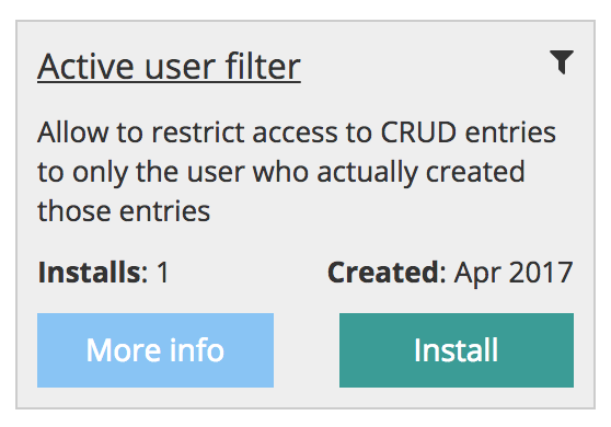 active user filter module