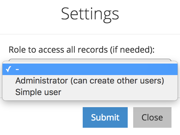 active user filter settings