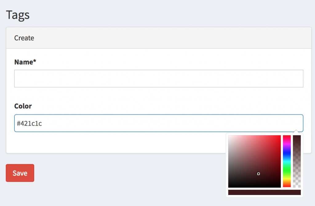 Laravel ColorPicker with Bootstrap and jQuery – Quick Admin