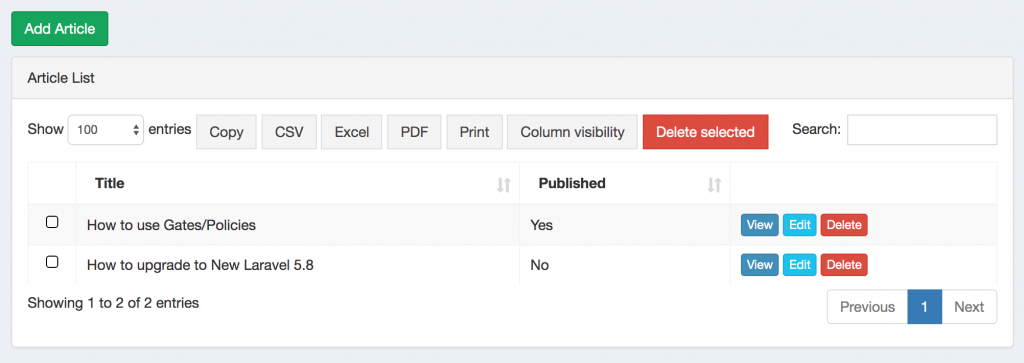 Laravel: Roles/Permissions for Individual Fields – Quick Admin Panel