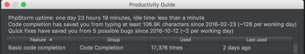 PhpStorm Productivity guide