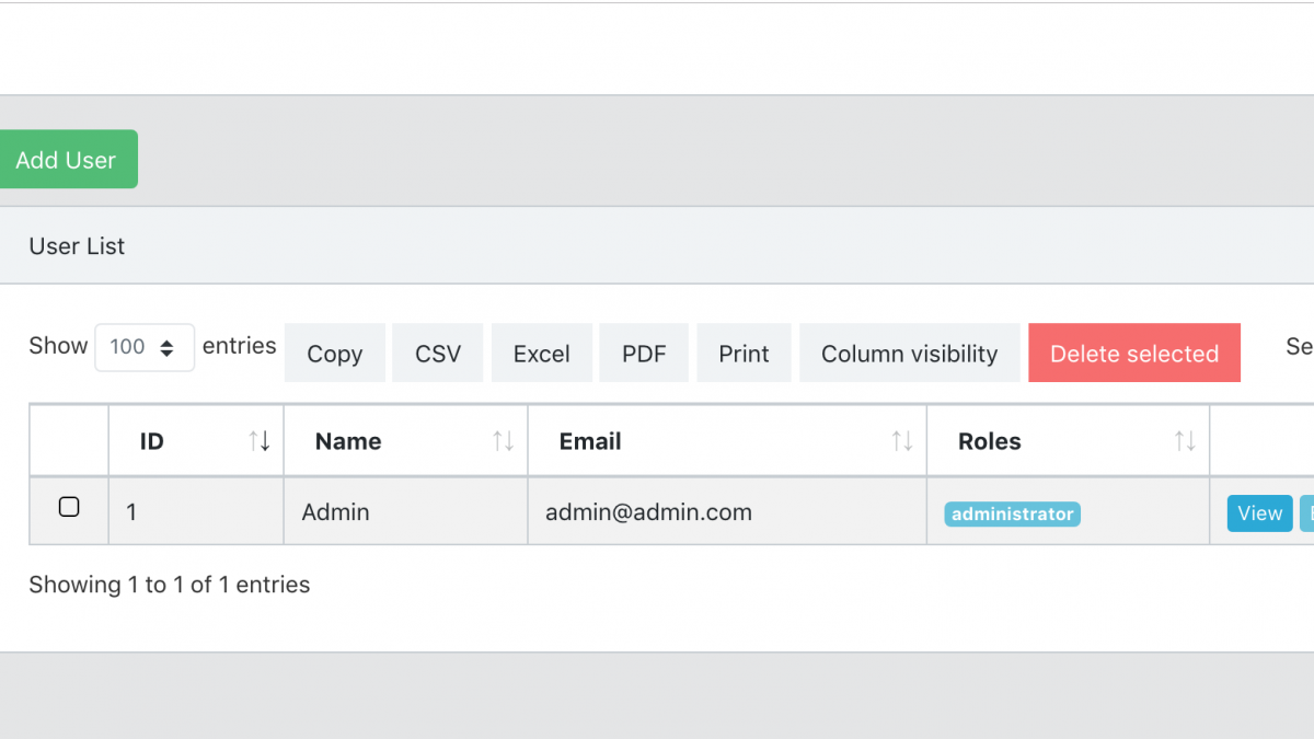 Two Free Laravel 6 Roles-Permissions Starter Projects – Quick Admin Panel