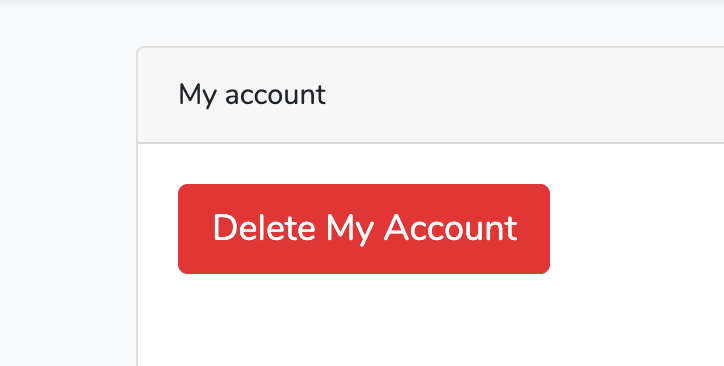 Laravel Delete User account