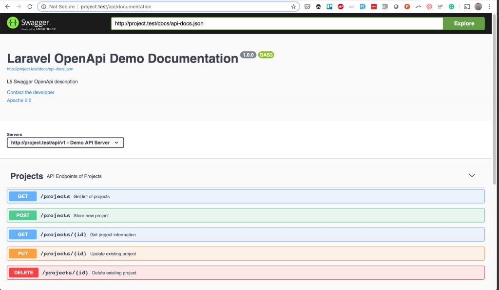 Laravel OpenAPI Swagger Documentation